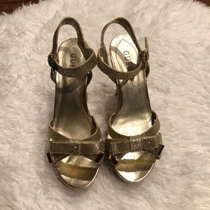 GUESS Sparkly Platform Wedges like new!